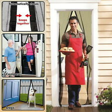 Magic Curtain Door Mesh Magnetic Fastening Hands Free Fly Bug Insect Screen New