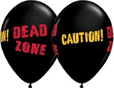 CAUTION DEAD ZONE Danger ZOMBIES Beware Walker 6 Party Latex Decoration Balloons
