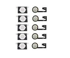 LOT OF 5 NEW WHITE Home Menu Button Flex Cable + Key Cap assembly for iPhone 4S