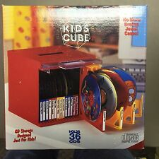 RED Cube HOLDS 36 CD S W/O JEWEL CASES INCLUDES LABELS STACKABLE  RED