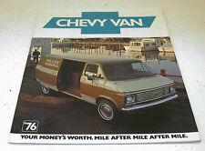 NOS 1976 Chevrolet Chevy Van G-10 G-20 Factory Sales Brochure Original GM