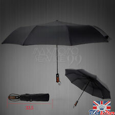 UK Black Rain Automatic Umbrellas Open & Close Windproof Vented Mens Womens Auto