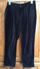 "NWT MARIMEKKO SAMU JUSSI-KOSKI ""GILDA"" BLACK COTTON VELVET PANTS SIZE: MEDIUM"
