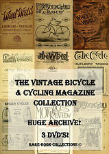 RARE ANTIQUE BICYCLE & CYCLING MAGAZINES (1880-1915) - 3 DVDs - 2 WHEEL HISTORY