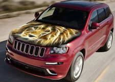 Lion Abstract Full Color Graphics Adhesive Vinyl Sticker Fit any Car Bonnet #032