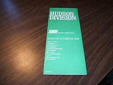 OCTOBER 1969 PENN CENTRAL FORM 105 HUDSON LINE PUBLIC TIMETABLE