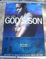NAS (NASIR JONES) God's Son 2002 promo poster 30 x 20 original