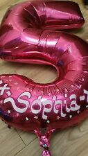 Personalised Helium Foil Number Balloon Birthday Glitter Outline