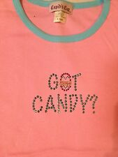 """NWT GIRLS """"GOT CANDY"""" SHIRT YOUTH LARGE 14/16~PINK EASTER EGG CHEAP!"""