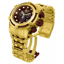 New Mens Invicta 12740 Reserve Swiss Made Chrono Bolt Zeus Brown MOP Dial Watch