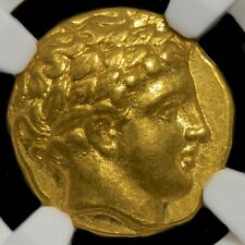 Kingdom of Macedon Phillip II 359-336 BC Gold Stater NGC Ch AU Fine Style Star!!