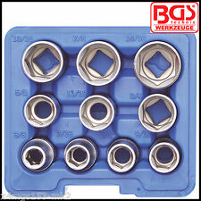 "BGS - SAE Imperial - 1/2"" Pro Torque® 10 Pcs Shallow Socket Set - Pro - 2434"