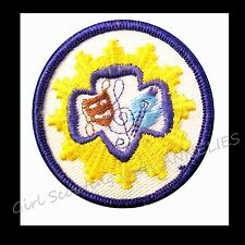 THE ARTS Senior Girl Scout Interest Patch 1963-74 NEW Badge Combine Ship