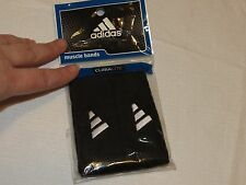 Adidas climalite Interval 1in inch Muscle arm Band Black White bands logo NEW