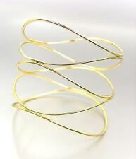 CHIC UNIQUE Urban Anthropologie Thin Gold Curved Organic Wire Bangle Bracelet