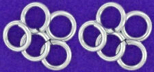 10 STRONG HEAVY STERLING SILVER OPEN JUMP RINGS, 6 MM, 1 MM WIRE