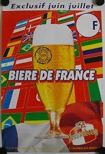 Affiche BIÈRE DE FRANCE 1998 Kronenbourg BRASSIN SPÉCIAL