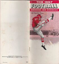 1967  FOOTBALL(NFL) HANDBOOK AND SCHEDULE-FROM THE SPORTING NEWS