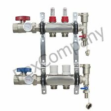 2- Loop/Port Stainless Steel PEX Manifold Radiant Heating