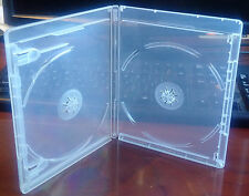 New 25 Pk CLEAR 12.5 mm VIVA ELITE Blu-Ray Case Double 2 Discs Storage Holder