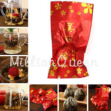 Jasmine Blooming Flower Flowering Handmade Green Ball Wedding Drinking Gift Tea