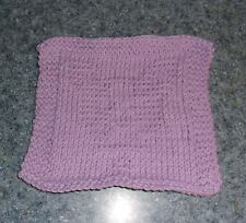 Brand New Hand Knit Boston Terrier Dog Purple Dish Cloth For Dog Rescue Charity