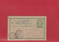 2 cent QV UPU post card to ** JAPAN ** transits and receivers 1894 Canada