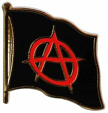 ANARCHY ANARCHIE Flaggen Pin Fahnen Pins Fahnenpin Flaggenpin Anstecker