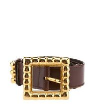 Escada Women's Brown Leather Belt