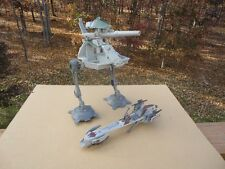 STAR WARS Republic THE CLONE WARS AT-AP WALKER and Recon SPEEDERBIKE