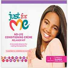 Just For me No-Lye Conditioning Crème Relaxer Kit 1App (Super)