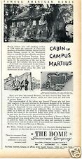 1950 The Home Insurance Co Campus Martius Marietta Ohio Print Ad