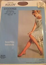 "6 PAIRS BEAUTIFUL FASHIONED RHT VINTAGE 100% NYLON STOCKINGS  Size 11 1/2"" BEIGE"