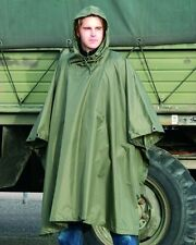Waterproof Army Hooded Ripstop Festival Rain Poncho Camping Hiking Military New