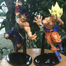 Pack 2 Dragon Ball Action Figure Goku Bardock Model Toy 22-23cm