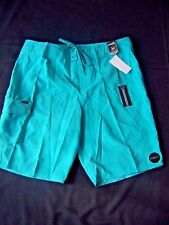 New O'Neill Men's Board Shorts Santa Cruz Size 34 Turquoise NWT