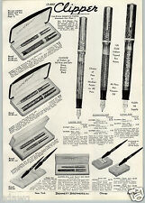 1941 PAPER AD Wasp Clipper Fountain Pen Sheaffer Onyx Desk Sets