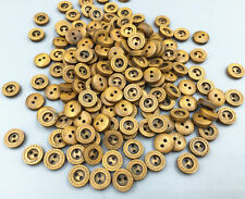 100PCS Mini DIY 2 Holes Wood Buttons Fit Sewing or Scrapbook Crafts 10mm