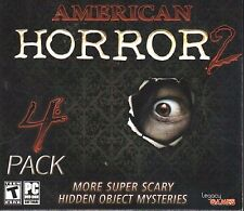 American Horror 2 4 Pack PC Games Windows 10 8 7 Vista XP Computer hidden object