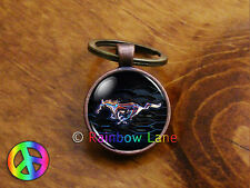 Ford Mustang Car Accessories Keychain Key Chain Key Case Key Ring Lanyard Gift