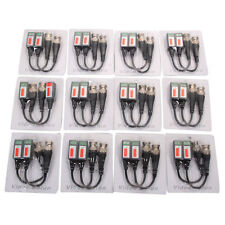 12Pairs 24PCS Coax CAT5 Camera CCTV BNC Video Balun Cable Transceiver Passive