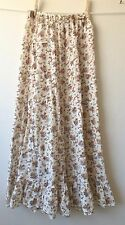 Ralph Lauren Denim & Supply Cotton Gauze Long Prairie Skirt Peasant BOHO sz XS