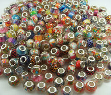 HOT 50pcs big hole charm Beads fit European Bracelet Chain Wholesale beads #1