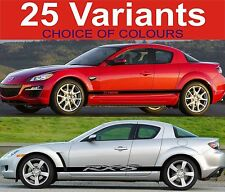 mazda rx8 side stripes decal stickers fit mazda rx8