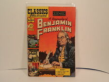 Classics Illustrated # 65 A Biography of Benjamin Franklin 1st Edition Good