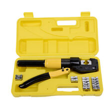 8 Ton Hydraulic Wire Terminal Crimper Battery Cable Lug Crimping Tool w/Die