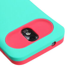 Samsung Galaxy S2 D710 SPRINT Turquoise Card Wallet Hard&Soft Rubber Hybrid Case
