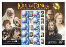 Lord of The Rings The Return of The King - Special Events Sheetlet