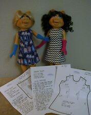 "Fitted A-Line Dress & Glove Patterns For 16"" Tonner Miss Piggy Dolls"