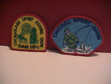 LOT /2 CHICAGO ILLINOIS SPORT FISH FISHING BOAT SHOW O'HARE AIRPORT PATCHES